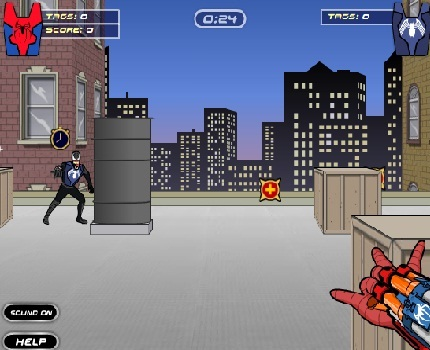 Play Spiderman Vs Venom Dart Tag Game