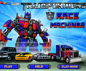 Transformers Race Machines Game