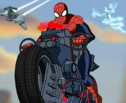 Ultimate Spider-Cycle Game
