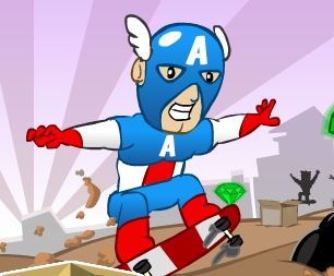 Superhero Downhill Skate
