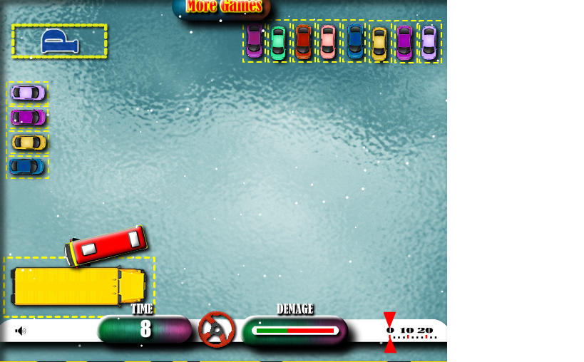 Ben10 Ice Bus Parking Game