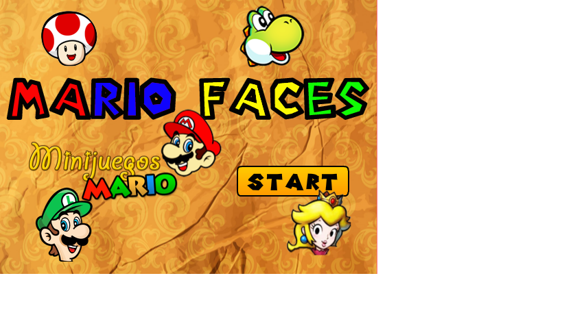 Mario Faces Game