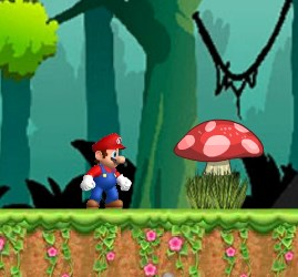Mario In The Jungle Game