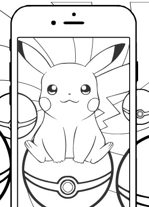 Coloring Pokemon Go