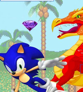 Sonic Vs Dragon