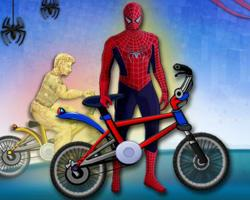 Spiderman Bmx Race Game